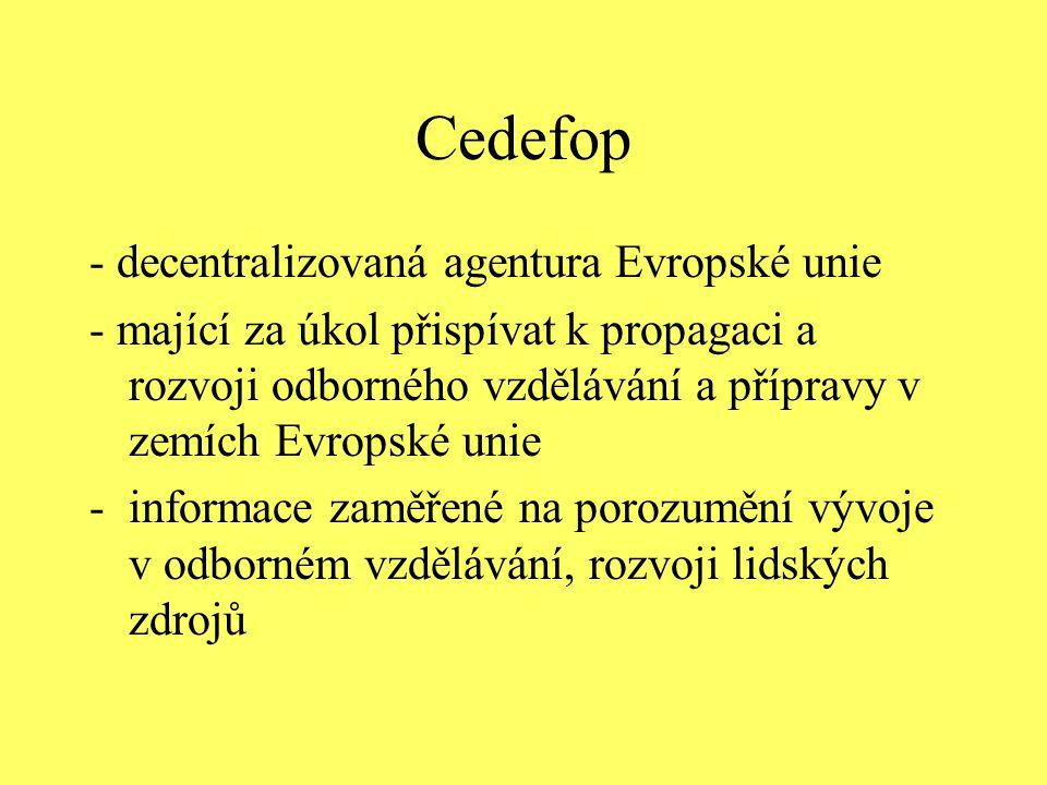 Cedefop - decentralizovaná agentura Evropské unie