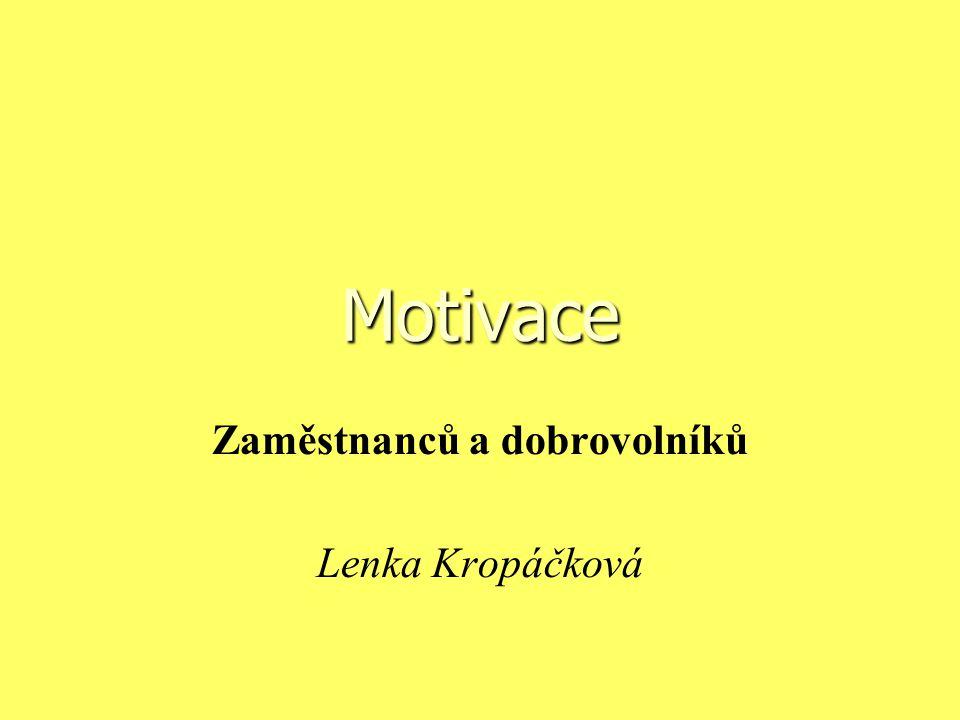 Zaměstnanců a dobrovolníků Lenka Kropáčková