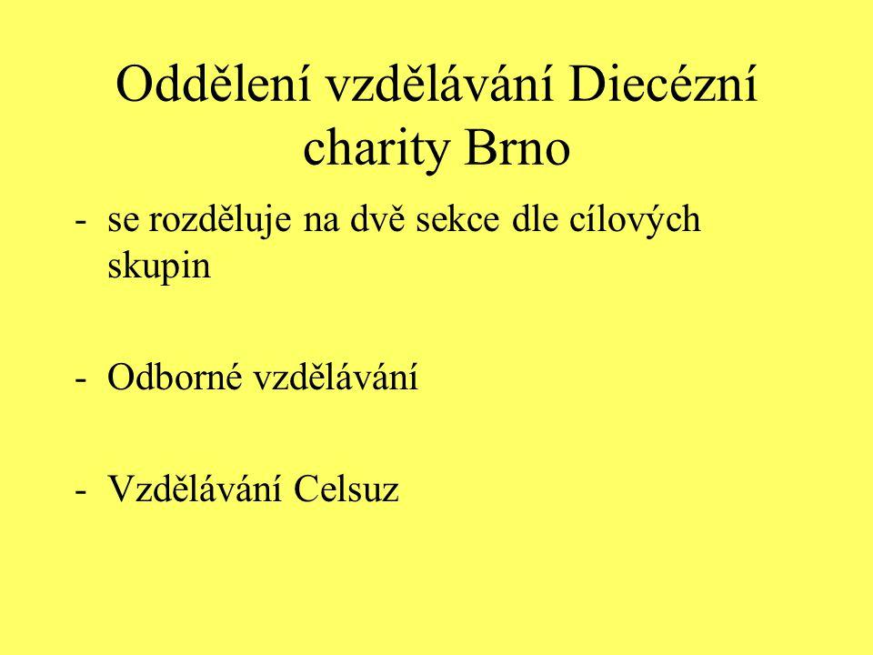 Oddělení vzdělávání Diecézní charity Brno