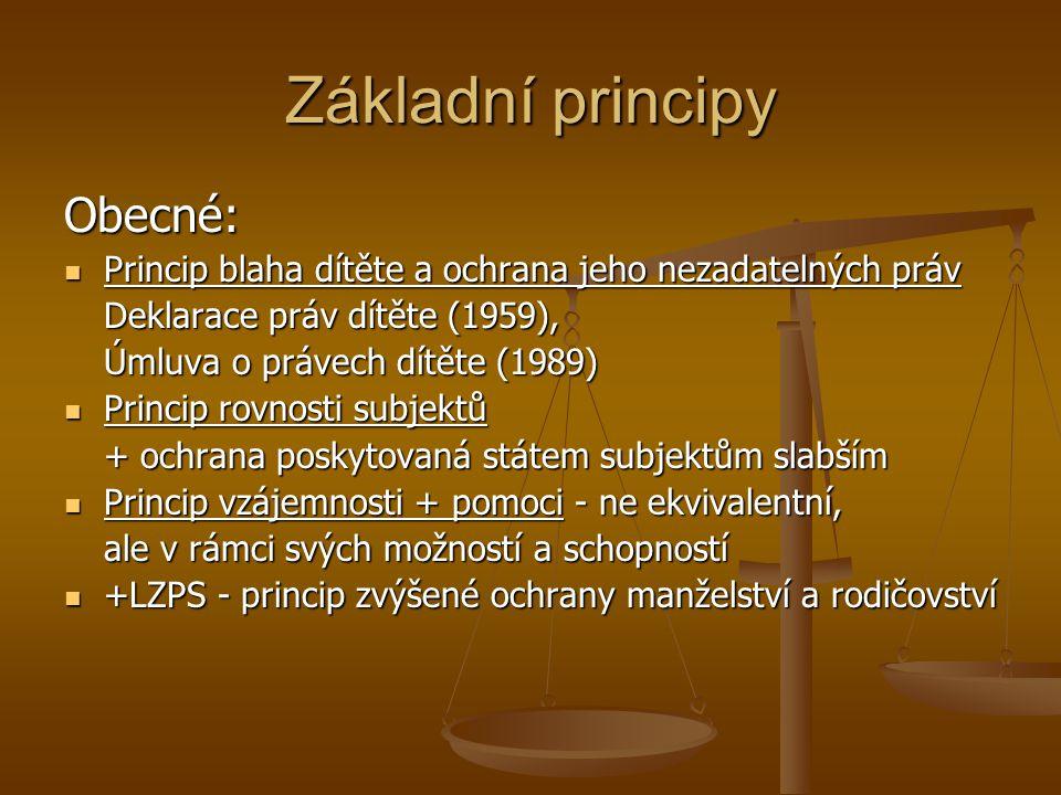 Základní principy Obecné: