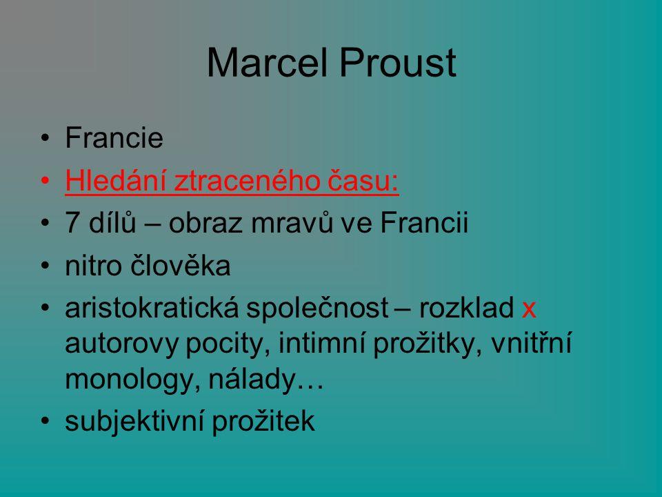 Marcel Proust Francie Hledání ztraceného času:
