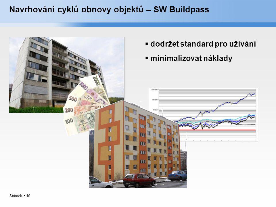 Navrhování cyklů obnovy objektů – SW Buildpass