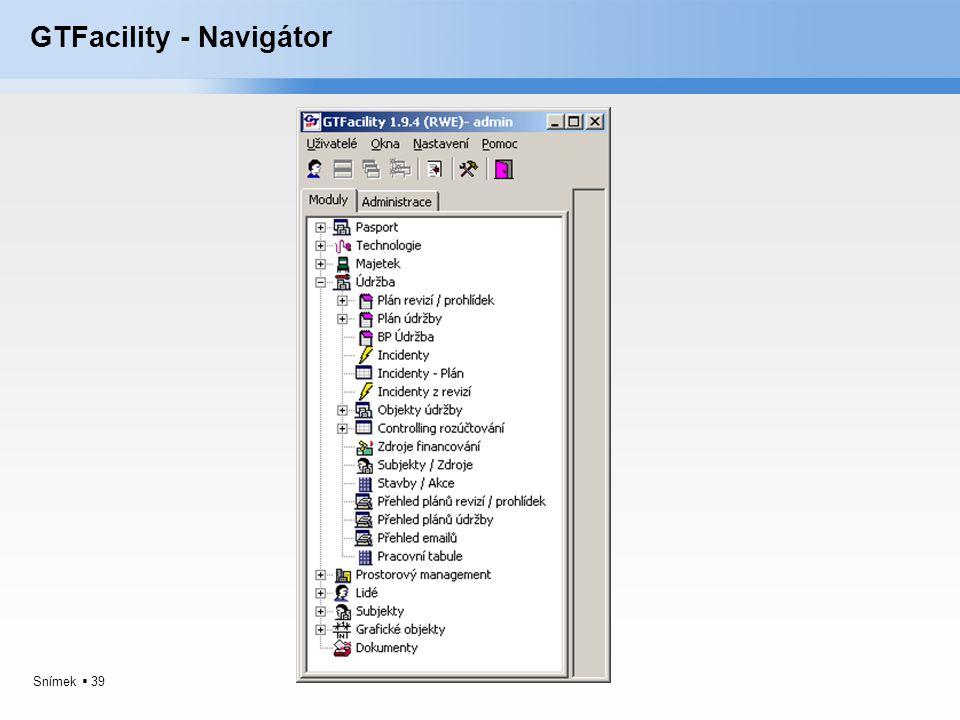 GTFacility - Navigátor