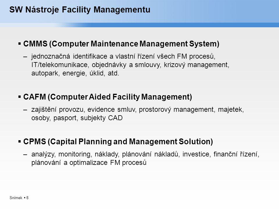 SW Nástroje Facility Managementu