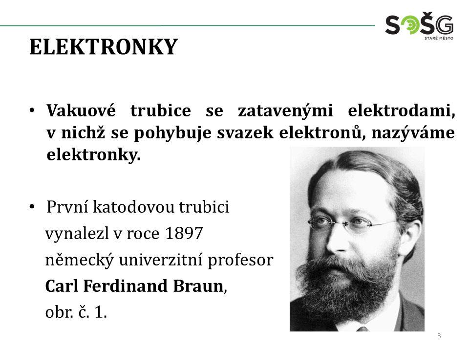 ELEKTRONKY Vakuové trubice se zatavenými elektrodami, v nichž se pohybuje svazek elektronů, nazýváme elektronky.