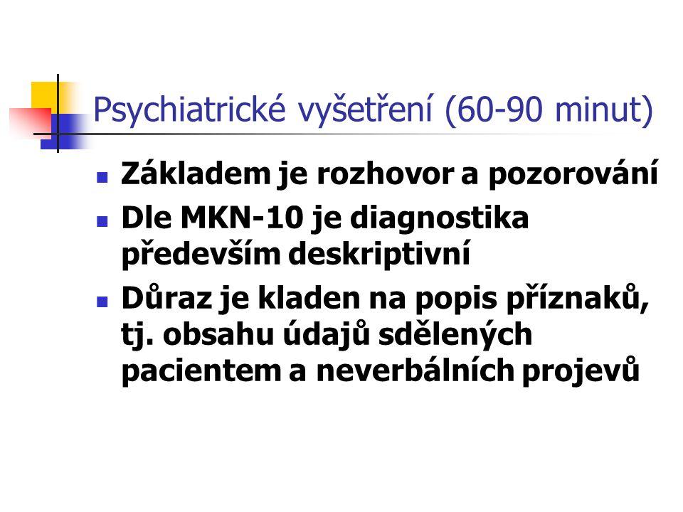 Psychiatrické vyšetření (60-90 minut)