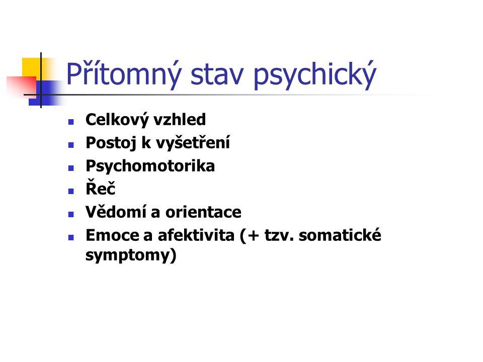 Přítomný stav psychický