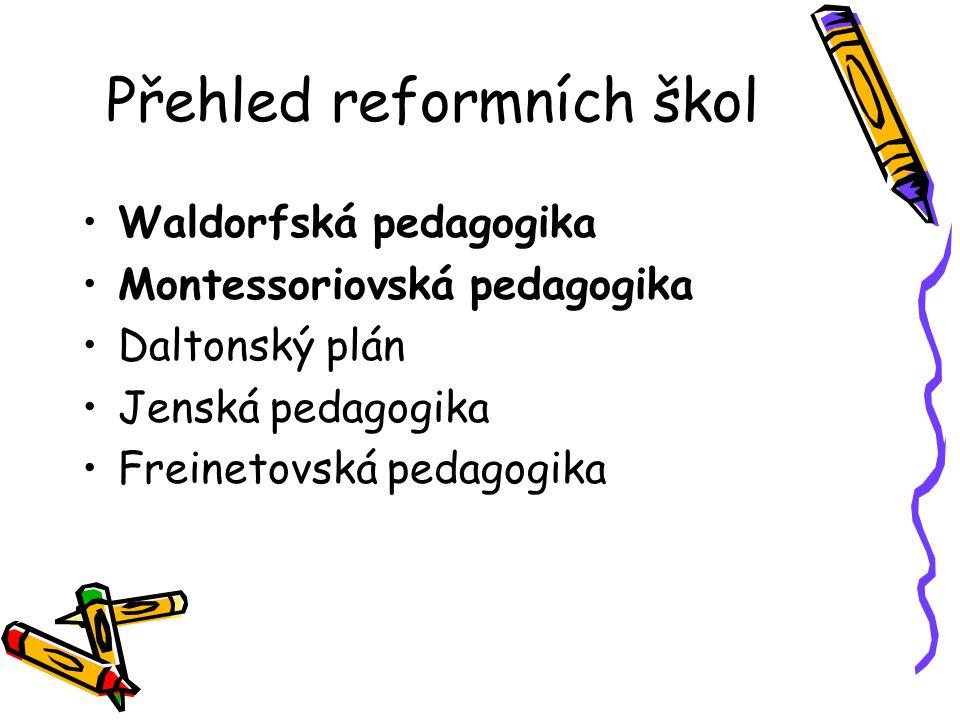 Přehled reformních škol