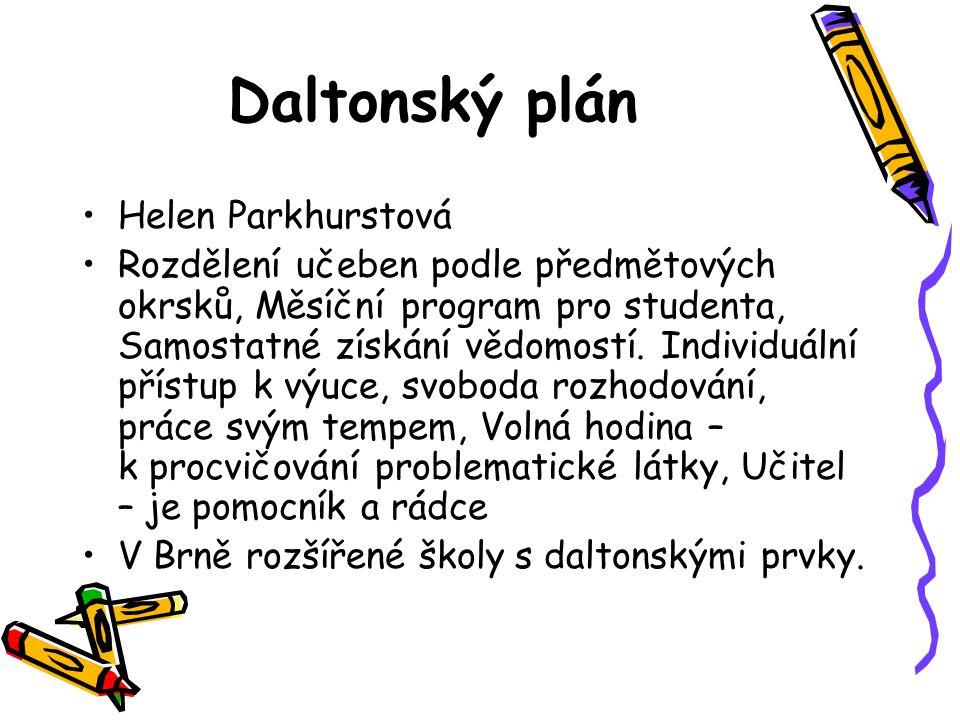 Daltonský plán Helen Parkhurstová