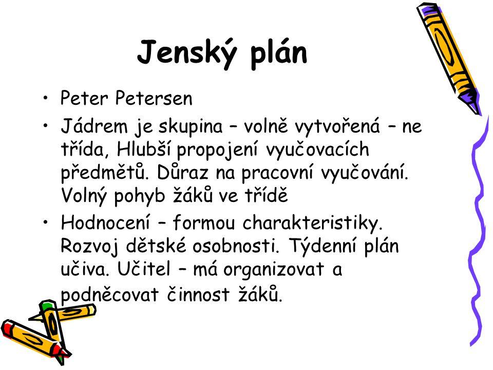 Jenský plán Peter Petersen