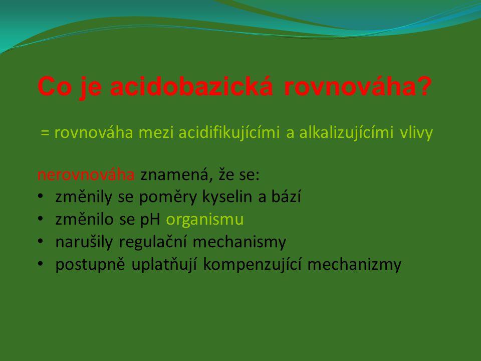 Co je acidobazická rovnováha