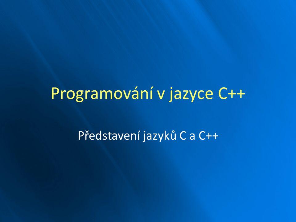 Programování v jazyce C++