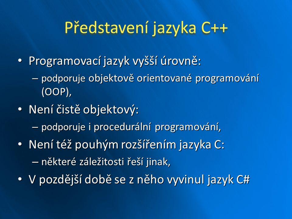Představení jazyka C++