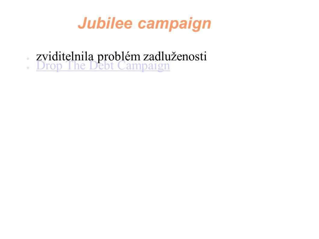 Jubilee campaign zviditelnila problém zadluženosti