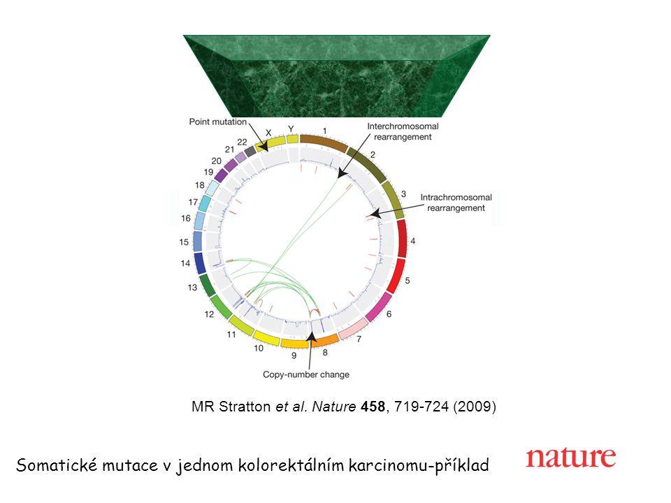 Somatické mutace v jednom kolorektálním karcinomu-příklad