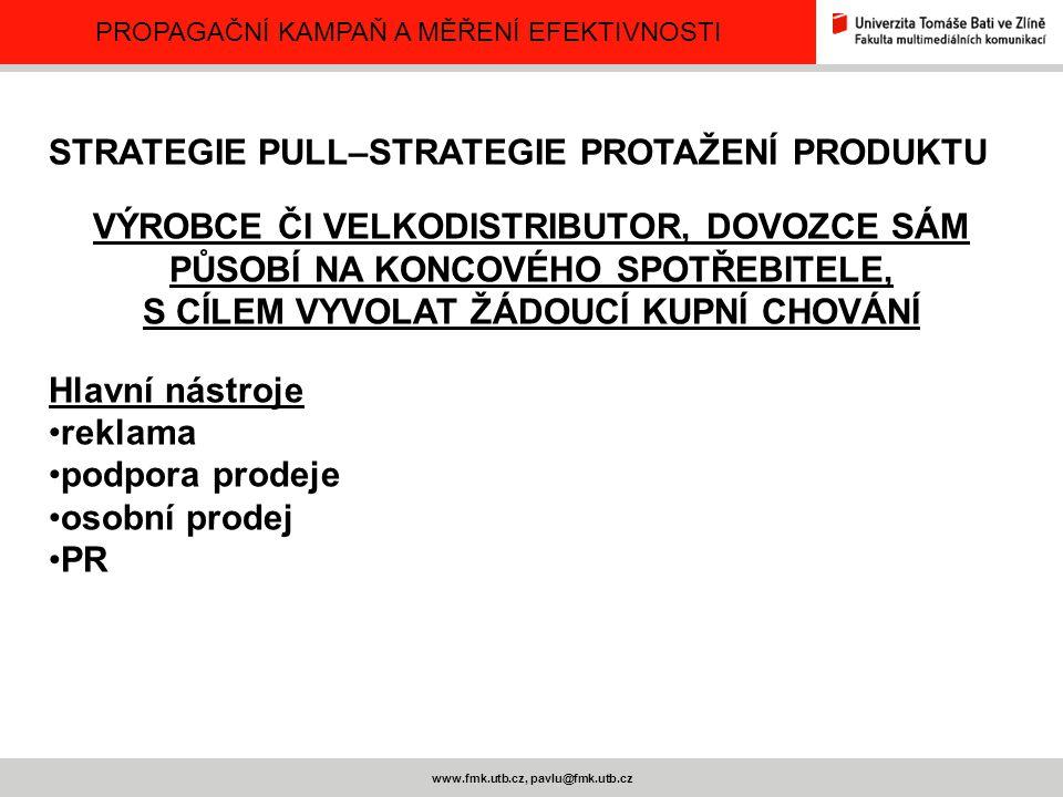 S CÍLEM VYVOLAT ŽÁDOUCÍ KUPNÍ CHOVÁNÍ www.fmk.utb.cz, pavlu@fmk.utb.cz