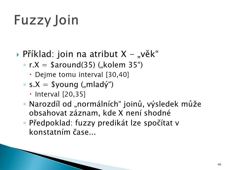 """Fuzzy Join Příklad: join na atribut X - """"věk"""