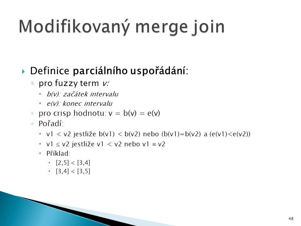 Modifikovaný merge join