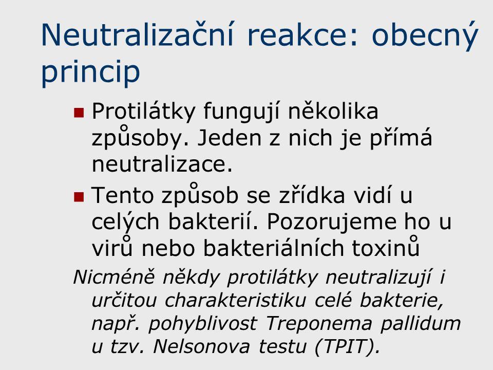 Neutralizační reakce: obecný princip