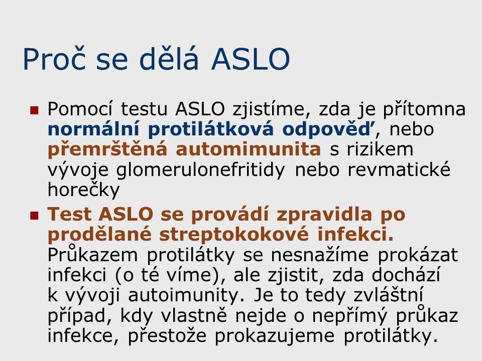 Proč se dělá ASLO