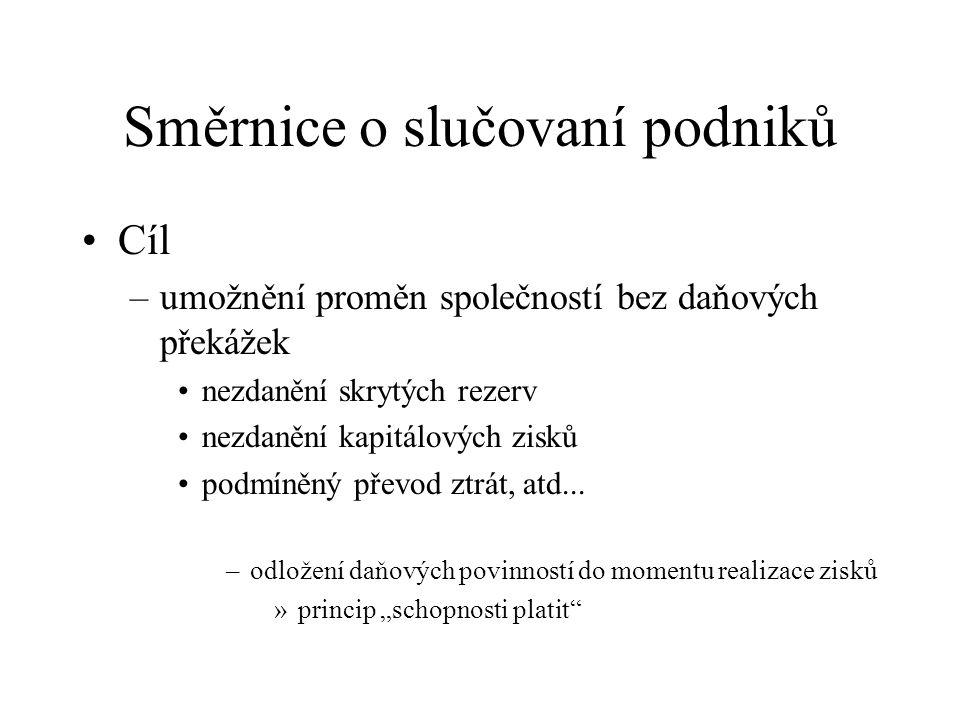 Směrnice o slučovaní podniků