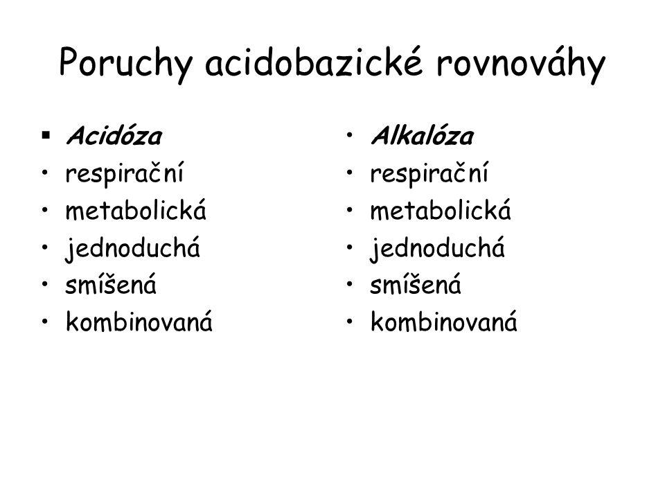 Poruchy acidobazické rovnováhy