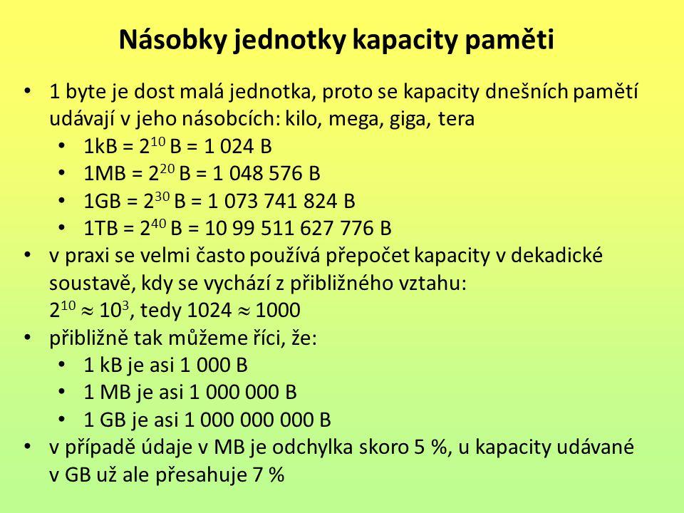 Násobky jednotky kapacity paměti