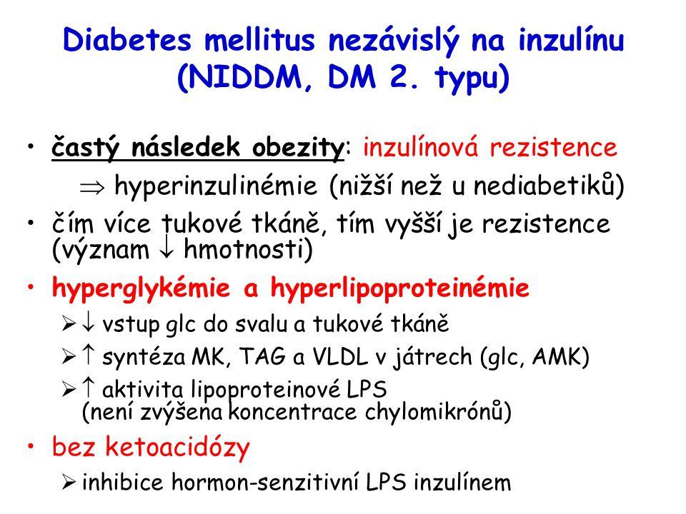 Diabetes mellitus nezávislý na inzulínu (NIDDM, DM 2. typu)