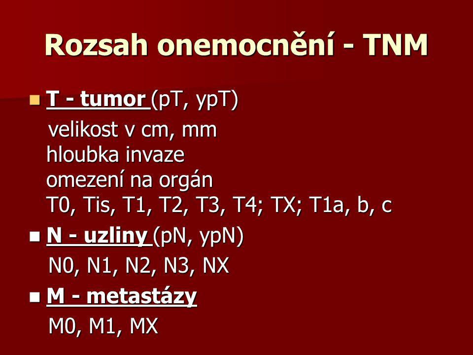 Rozsah onemocnění - TNM