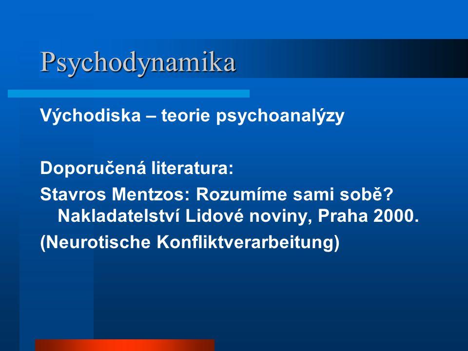 Psychodynamika Východiska – teorie psychoanalýzy