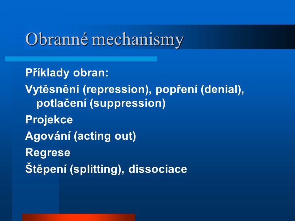 Obranné mechanismy Příklady obran: