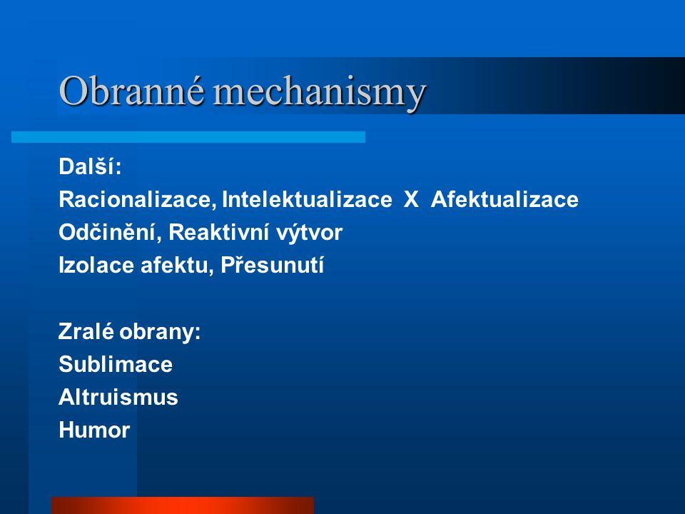 Obranné mechanismy Další:
