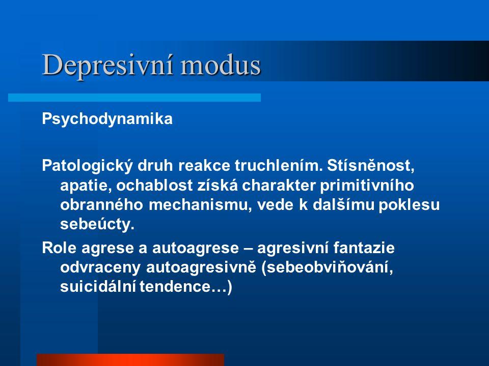 Depresivní modus Psychodynamika