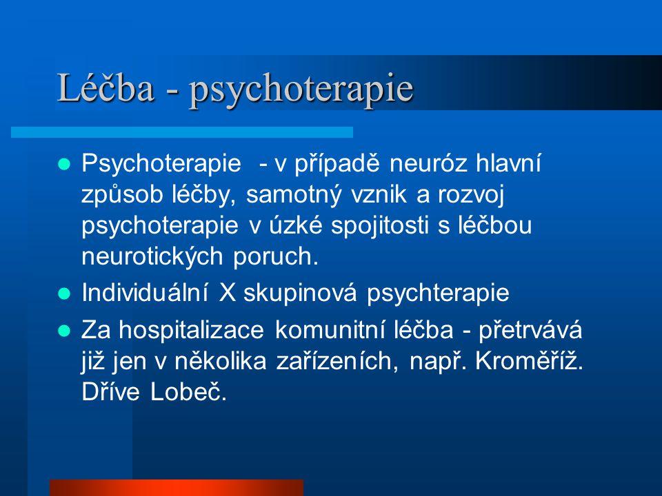 Léčba - psychoterapie