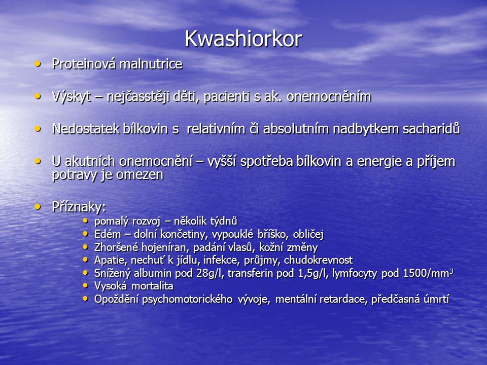 Kwashiorkor Proteinová malnutrice
