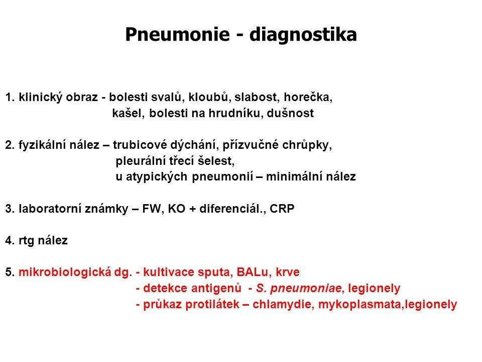 Pneumonie - diagnostika