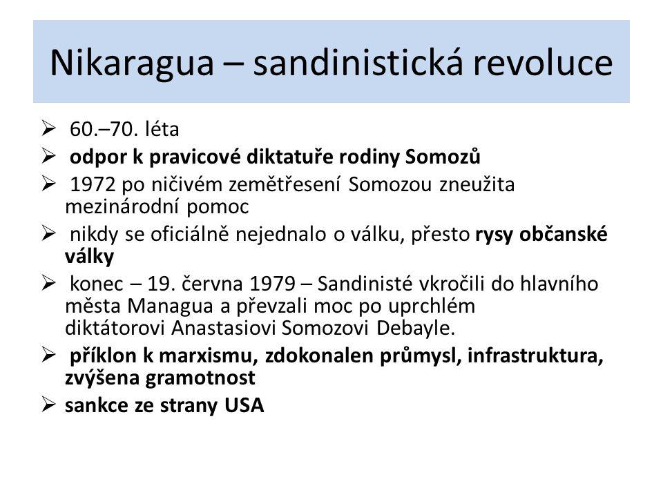 Nikaragua – sandinistická revoluce
