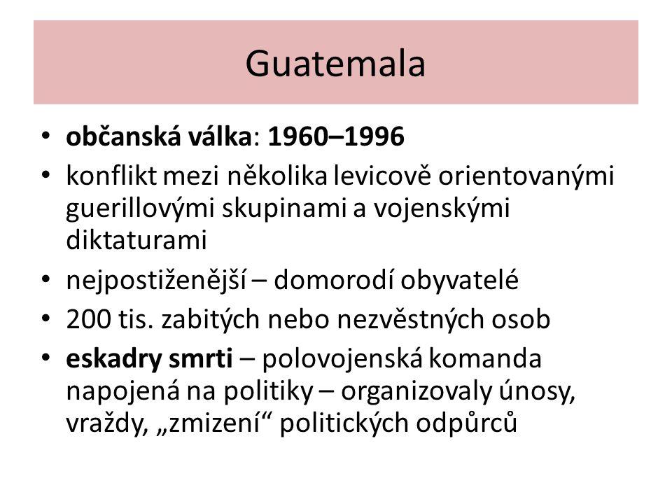 Guatemala občanská válka: 1960–1996