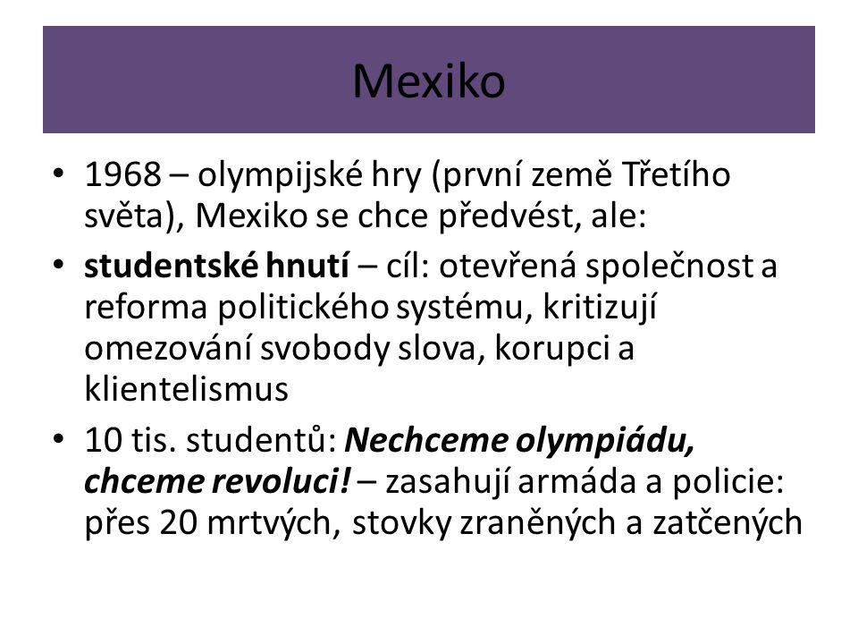 Mexiko 1968 – olympijské hry (první země Třetího světa), Mexiko se chce předvést, ale:
