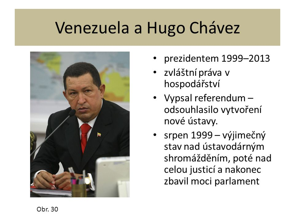 Venezuela a Hugo Chávez