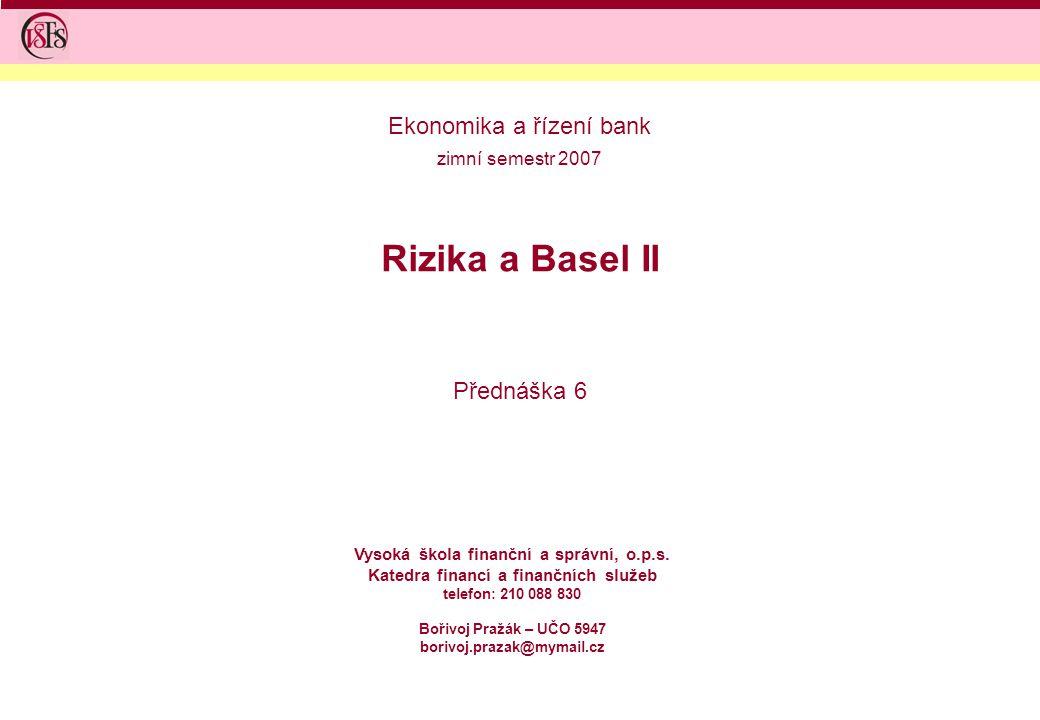 Ekonomika a řízení bank