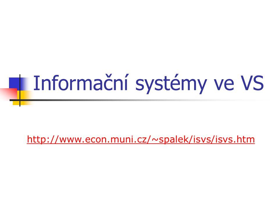 Informační systémy ve VS