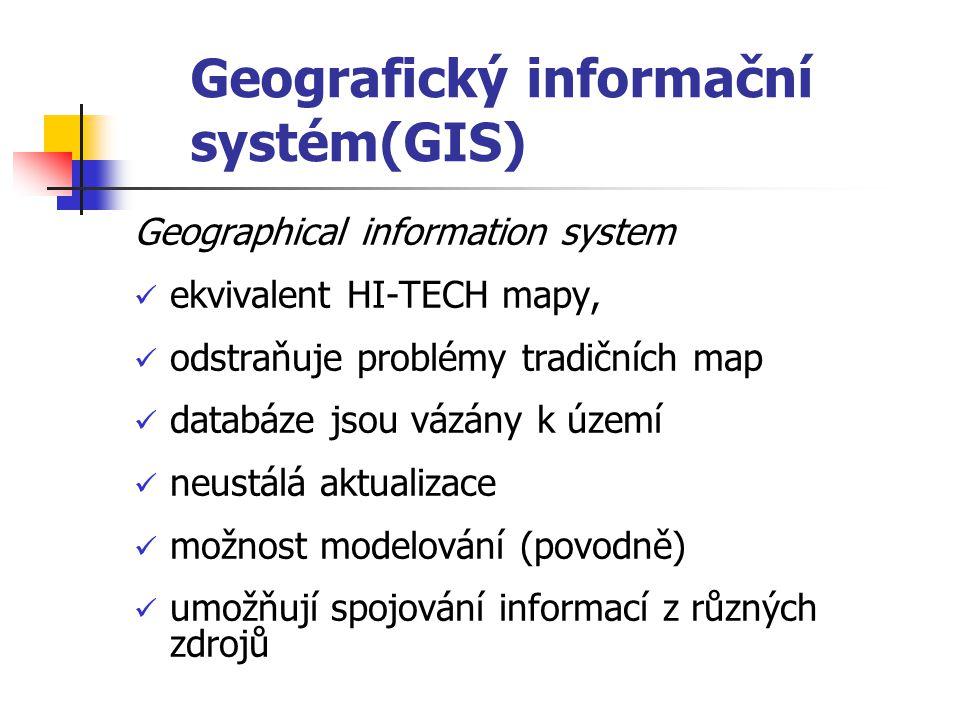 Geografický informační systém(GIS)