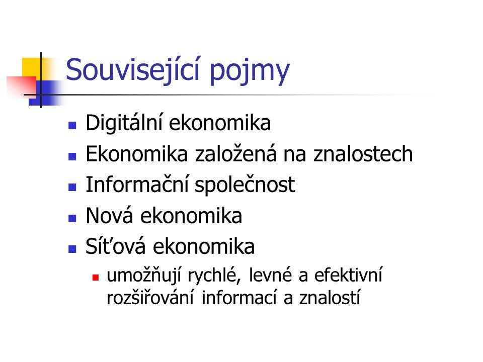Související pojmy Digitální ekonomika Ekonomika založená na znalostech
