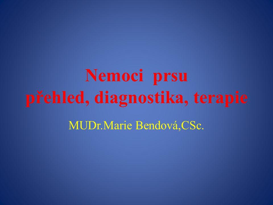 Nemoci prsu přehled, diagnostika, terapie