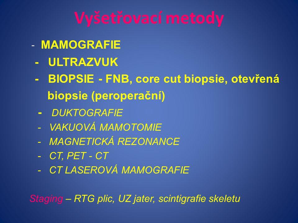 Vyšetřovací metody - MAMOGRAFIE - ULTRAZVUK