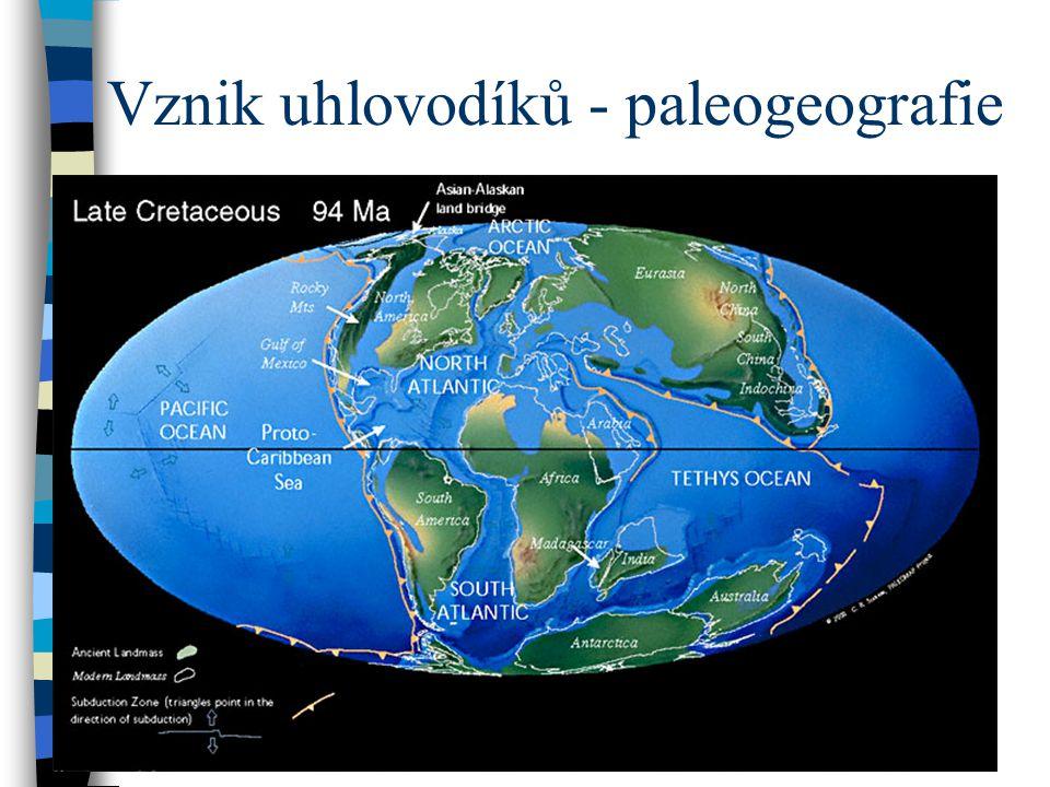 Vznik uhlovodíků - paleogeografie