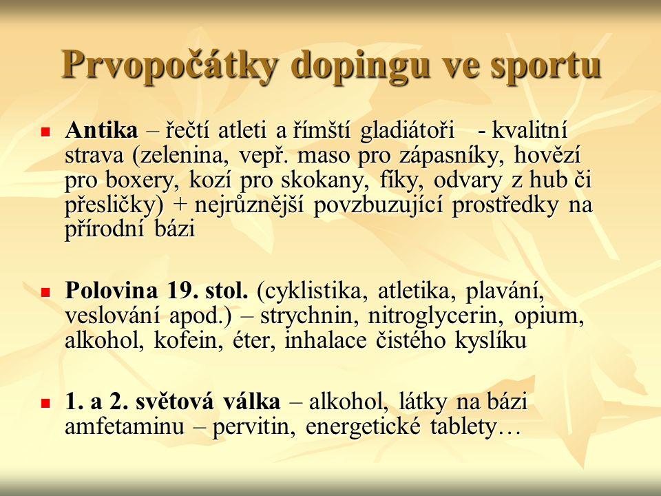 Prvopočátky dopingu ve sportu