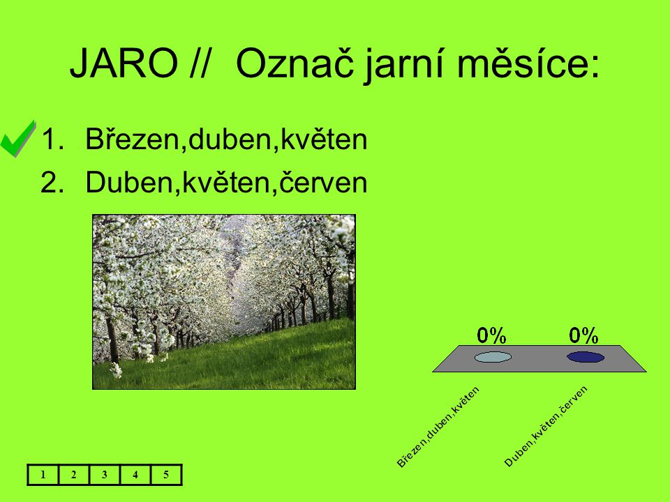 JARO // Označ jarní měsíce: