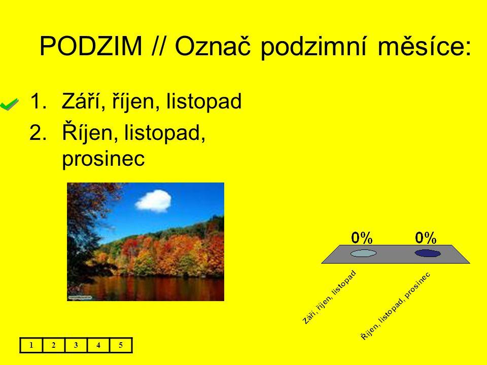 PODZIM // Označ podzimní měsíce: